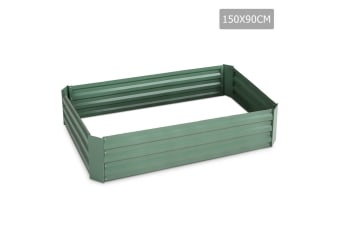 Galvanised Raised Garden Bed 150 x 90 x 30cm (Green)