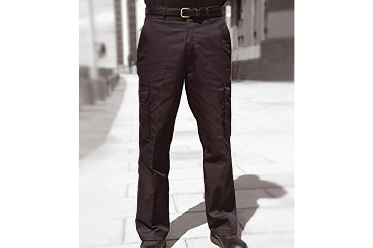 Warrior Mens Cargo Workwear Trousers (Black) (46/R)