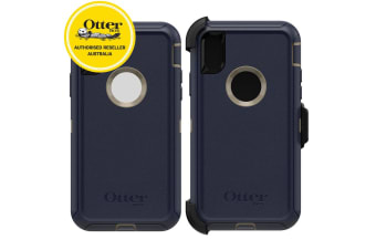 Otterbox Defender Rugged Tough Case Cover w/ Belt Clip for iPhone X/Xs Dark Lake