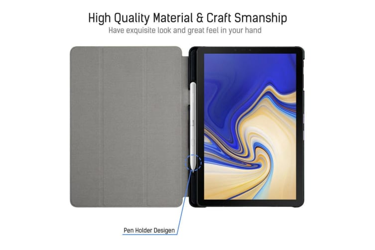 """Smart Leather Stand Case Cover with Pen holder For Samsung Galaxy Tab S4 10.5"""""""