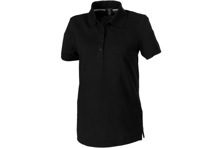 Elevate Crandall Short Sleeve Ladies Polo (Solid Black) (XXL)