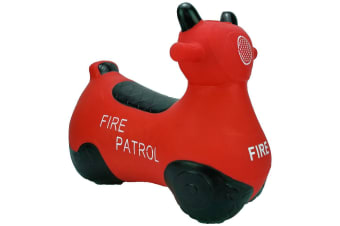 Kidi Hoppers Bouncy Rider Red Fire Engine Scooter