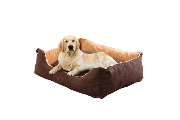 Soft Lining Washable Pet Bed Mat Cushion XL BROWN
