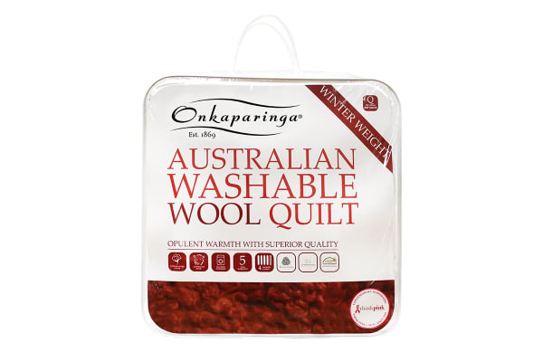 Onkaparinga Australian Wool Washable Winter Quilt (Super King)