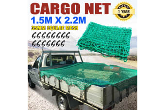 SAN HIMA Cargo Net 1.5m x 2.2m 35mm Square Mesh Bungee Cord for Ute Truck Trailer
