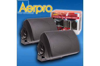 "AERPRO PAIR 6X9"" UNIVERSAL SPEAKER ENCLOSURE BOX MOUNT VAN BOAT TRUCK APFB69B"