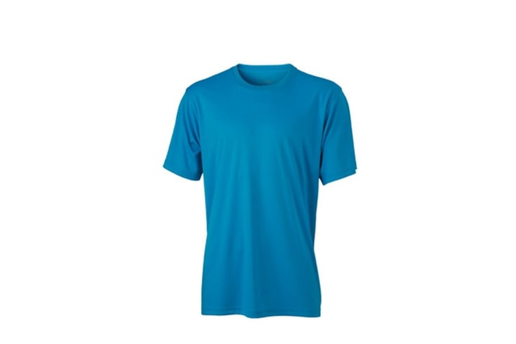 James and Nicholson Mens Active Tee (Turquoise) (L)