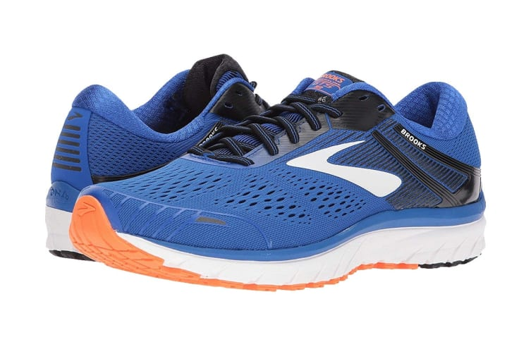 Brooks Men's Adrenaline GTS 18 (Blue/Black/Orange, Size 8)