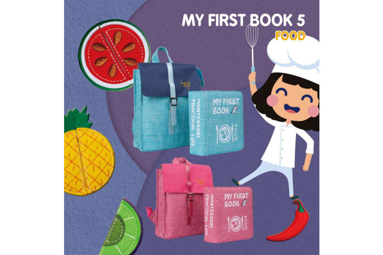 My First Book 5 Food Light Pink Childrens Books Kids Toys Book Gift Idea