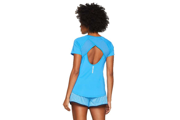 Under Armour Women's Fly-by T-Shirt (Mako Blue/Reflective, Size Small)
