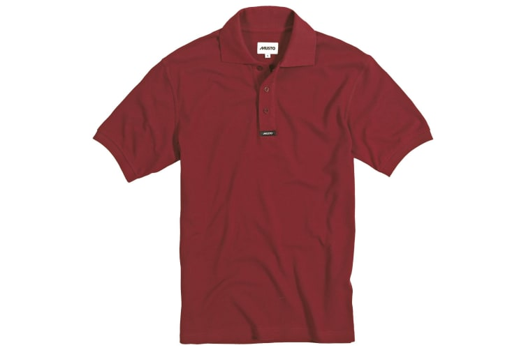 Musto Mens Classic Pique Short Sleeve Polo Shirt (Red) (S)