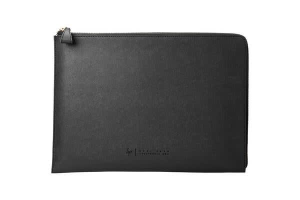 "HP Premium Leather Sleeve with Zip for 13.3"" Laptop/Notebook  - Black Sophisticated style. Premium"