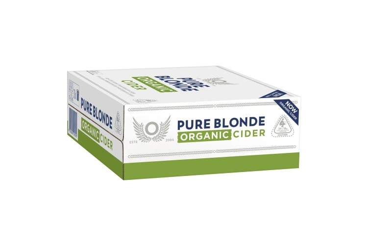 Pure Blonde Organic Cider Cans 3 x 10 375mL Cans