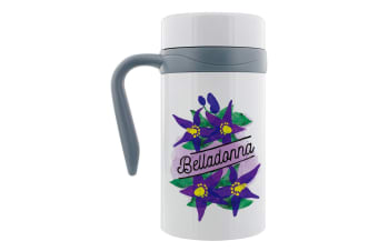 Deadly Detox Belladonna Thermal Travel Mug With Handle (White)