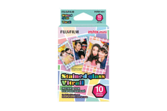 Fujifilm Instax Mini Stained Glass Film - 10 Sheets