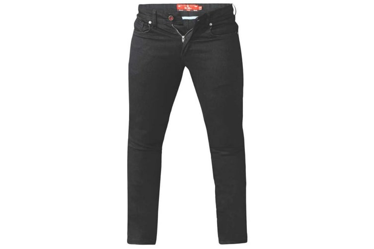 Duke Mens Claude King Size Tapered Fit Stretch Jeans (Black) (56S)