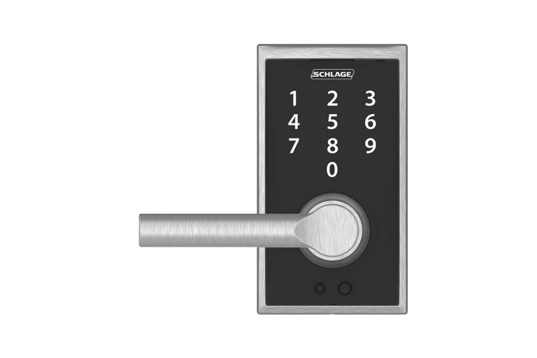 Schlage Touch Keyless Touchscreen Lever with Century Trim and Broadway Lever (Bright Chrome)