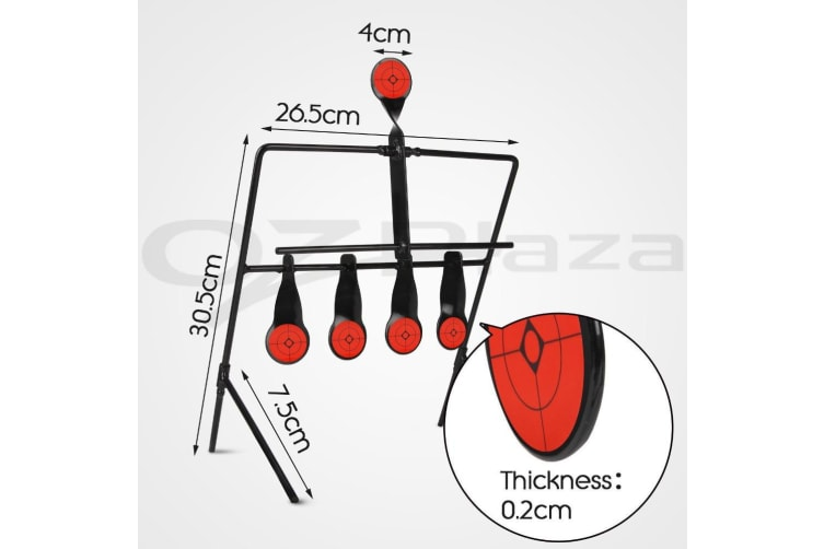 Auto Resetting Spinner Shooting Target 5mm For .22 Long Rifle/ Hand Gun