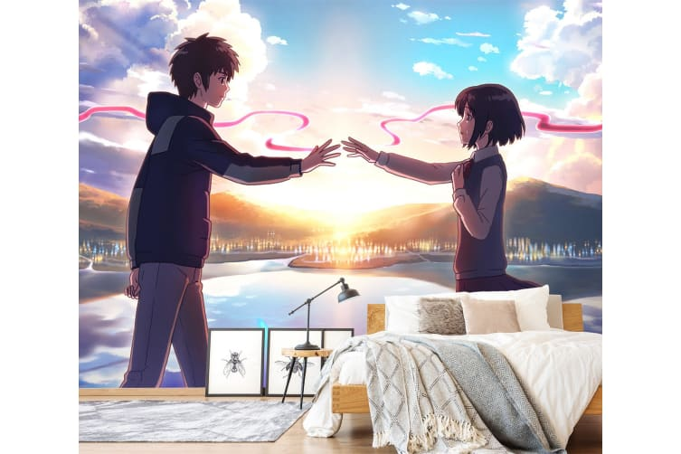 3D Your Name 072 Anime Wall Murals Woven paper (need glue), XL 208cm x 146cm (WxH)(82''x58'')