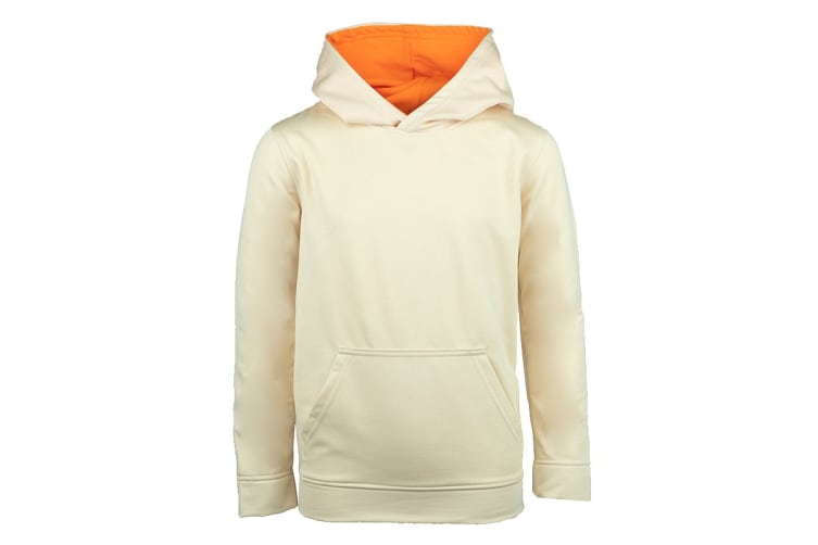 Champion Boys' Solid Performance Pullover Hoodie (Off White, Size M)