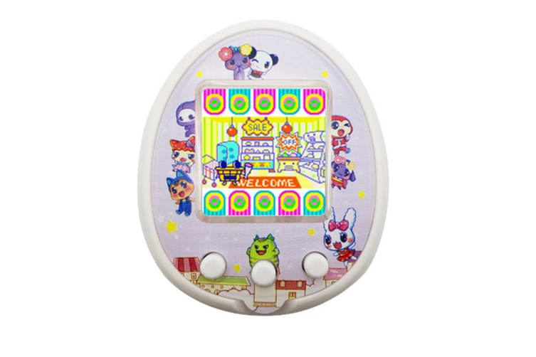 Select Mall LCD Screen Handheld Game for Kids Portable Video Game Player Built-in 12 Classic GamesPet Development Game Machine-White
