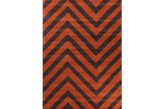 Chevron Jaffa Orange Rug