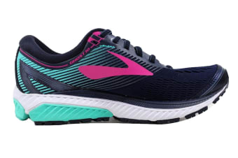 Brooks Women's Ghost 10  (Navy/Pink/Teal Green, Size 7.5)