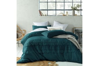 Tassel Quilt Cover Set Jade Double by Accessorize