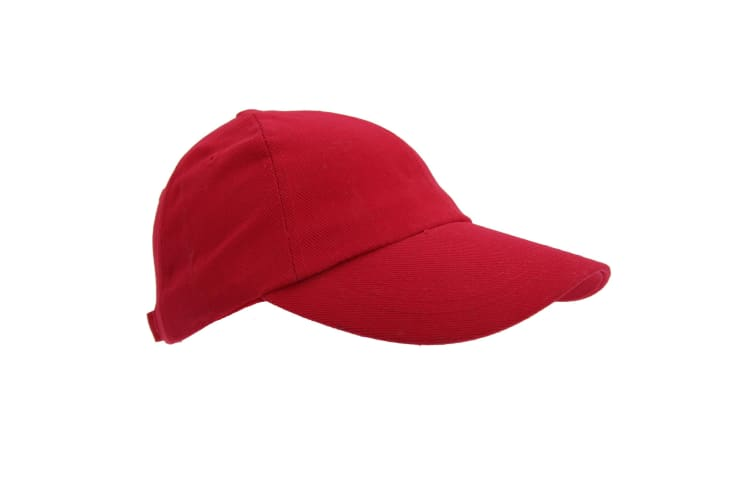 Result Unisex Heavy Cotton Premium Pro-Style Baseball Cap (Pack of 2) (Red) (One Size)