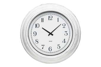Degree 53cm Marseille Vintage Round Wall Clock Home Decor Arabic Numbers White