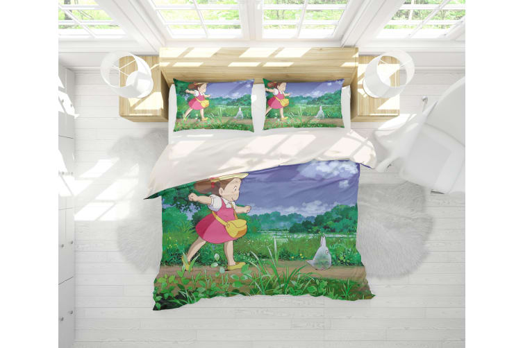 3D Anime Neighbor  Friend Quilt Cover Set Bedding Set Pillowcases 14-Double