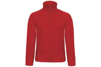 B&C Collection Mens ID 501 Microfleece Jacket (Red) (XL)
