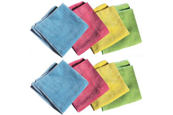 8pc E-Cloth General Purpose Cleaning Kitchen Dish Car Gym Wash Towel Fibre Cloth