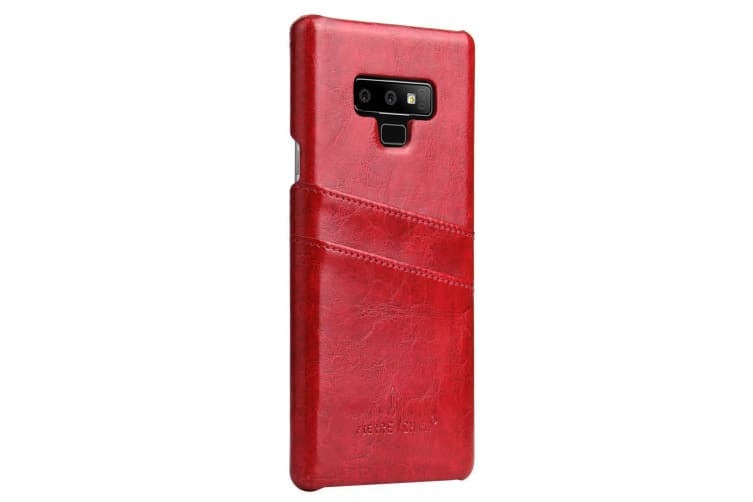 For Samsung Galaxy Note 9 Case Deluxe Wallet Leather Cover 2 Card Slots Red