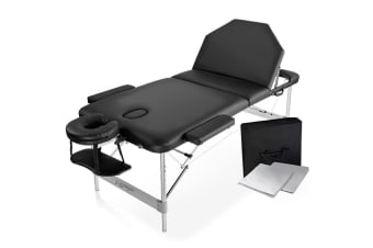 HPF Black 82cm 3 Folding Massage Table