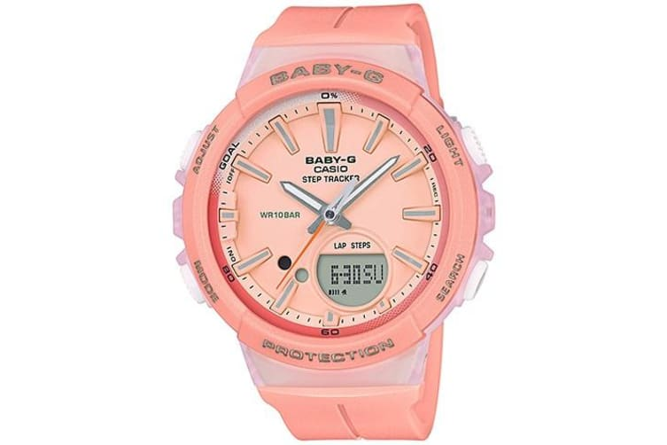 Casio Baby-G Analogue/Digital Pink Female Step Tracker Watch BGS100-4A BGS-100-4A