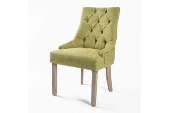 French Provincial Oak Leg Chair AMOUR - GREEN