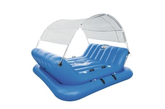 Rock-N-Shade Island Pool Float Inflatable Party Island 4 Seats Canopy 2.72m x 1.96m