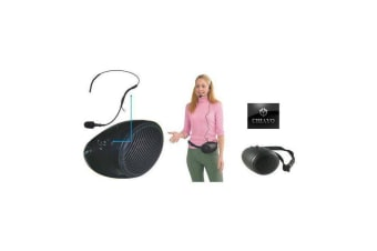 Personal Belt Pack Amplifier Hip Mount Hands Free Voice Saver With Headset NEW