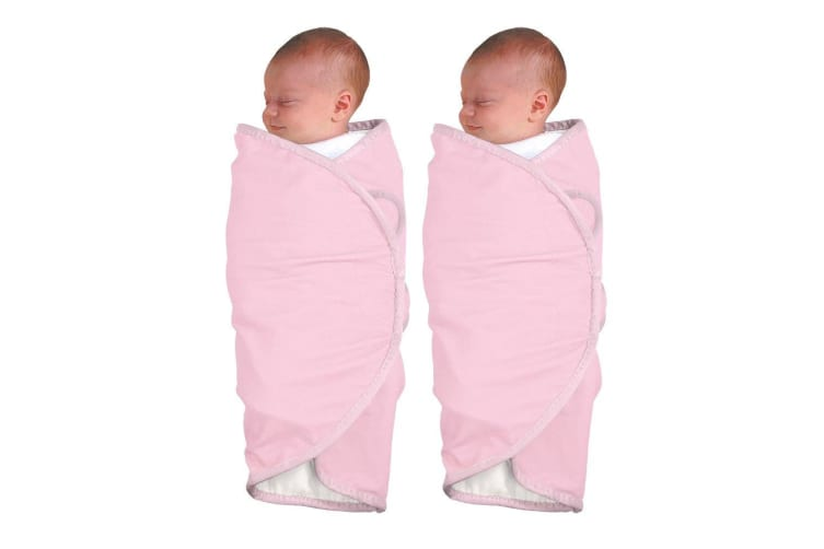 2PK The First Years Deluxe Wrap Swaddler - Pink