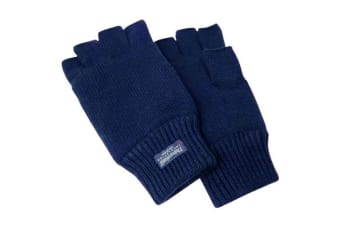 Jack Jumper Atlantic Fingerless Gloves Navy Large