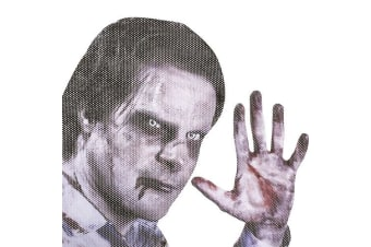 thumbsUp Ride With Car Window Sticker - Zombie