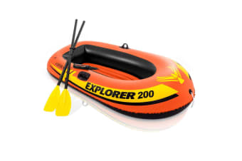 Intex 185cm Explorer 200 Inflatable/Floating Adults/Kids Boat w/ Oars Pumps 6y+
