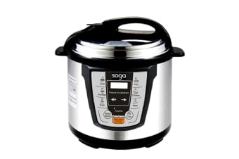 SOGA Electric Stainless Steel Pressure Cooker 6L 1000W Multicooker 16
