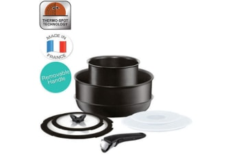 Tefal 8pc Ingenio Stackable Cookware Non-Stick Frypan Pan Pot Set Induction Lid