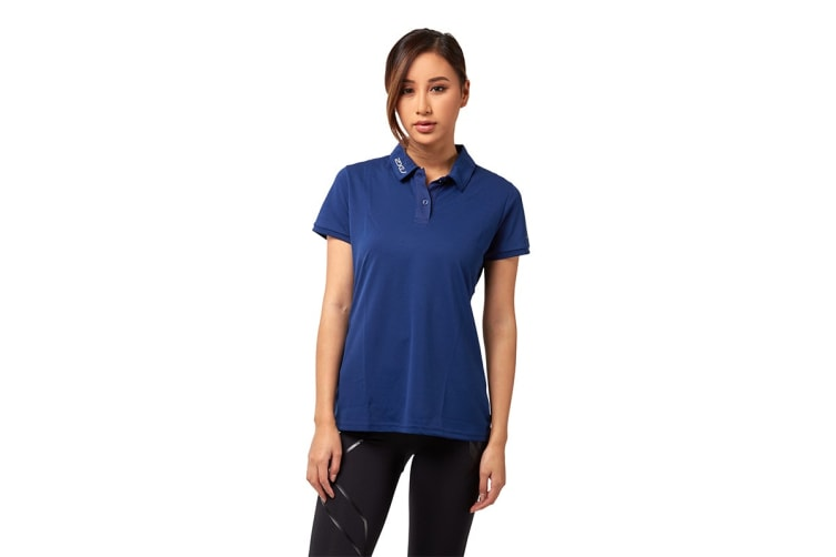 2XU Women's Active Polo (Navy/Navy, Size L)