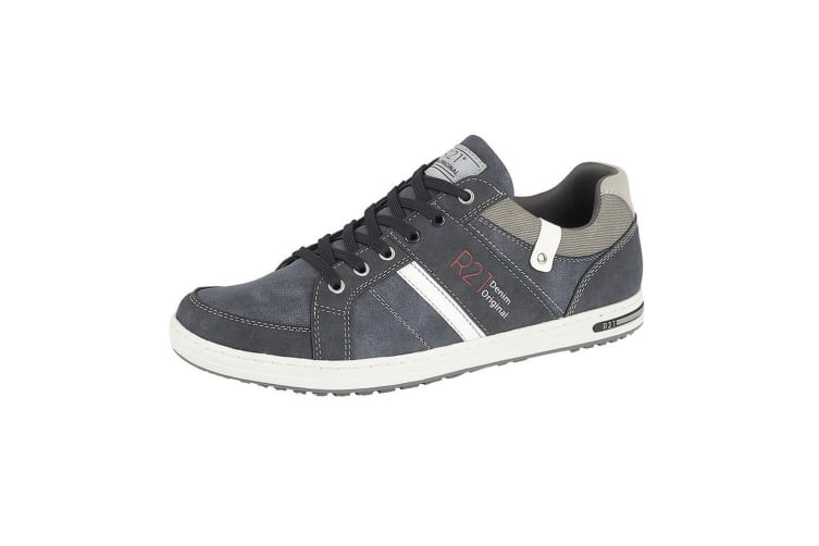 Route 21 Mens Denim Original Lace Up Casual Trainers (Navy) (7 UK)