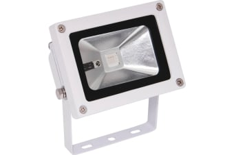 10W 240V IP65 Weatherproof LED RGB Floodlight ideal for domestic and commercial