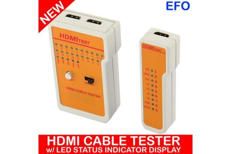 Hdmi Cable Tester Led Indicator 19 Core Test Remote Portable Battery Powered