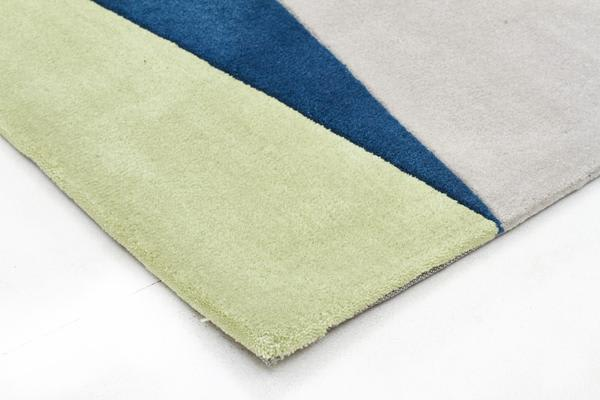 Cascade Modern Rug Blue Green Brown 165x115cm